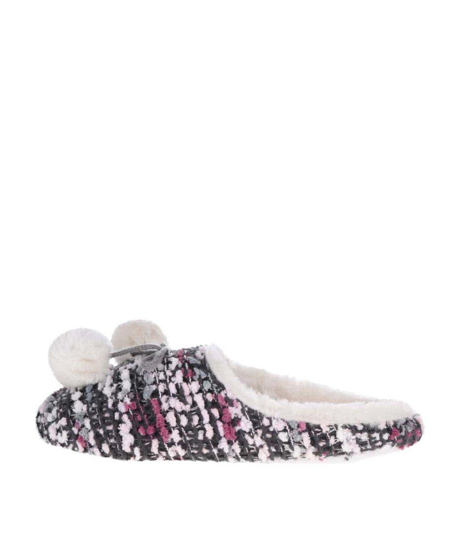 Ružové vzorované papuče Something Special