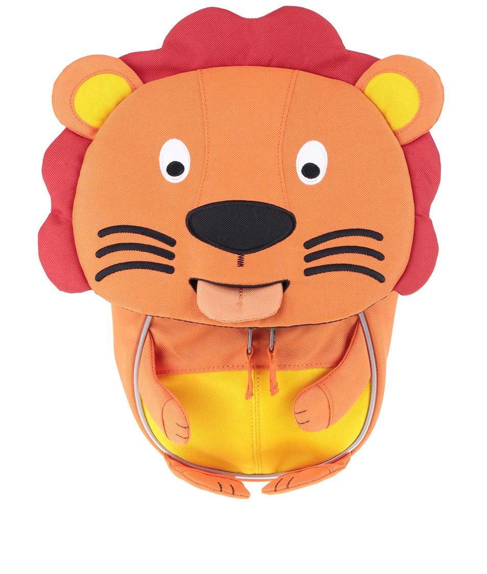 Oranžový batôžtek v tvare leva Affenzahn