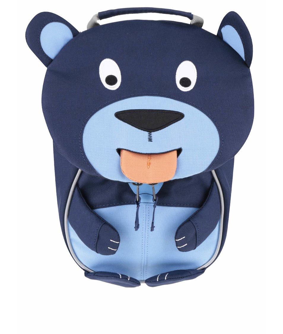Tmavomodrý batôžtek v tvare medvedíka Affenzahn
