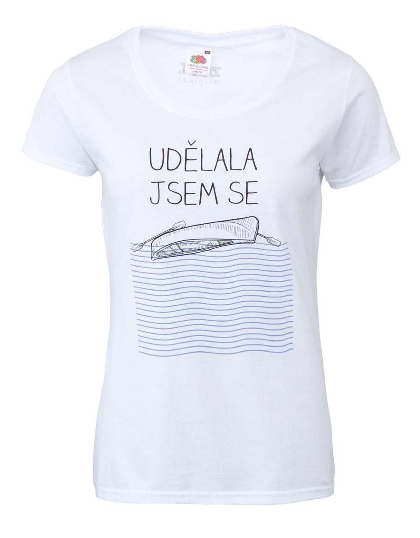 Fotografie Bílé dámské tričko ZOOT Originál Udělala jsem se