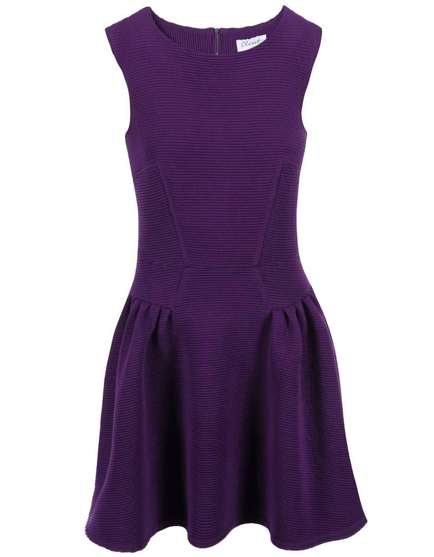 Fialové šaty bez rukávů Closet