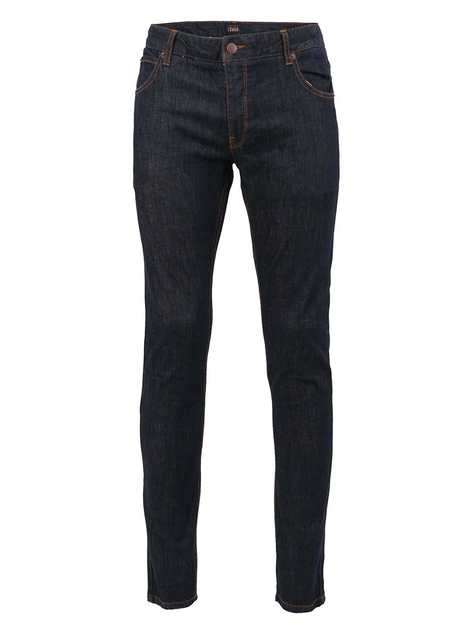 Tmavě modré skinny džíny s knoflíkovým zapínáním !Solid Dexter