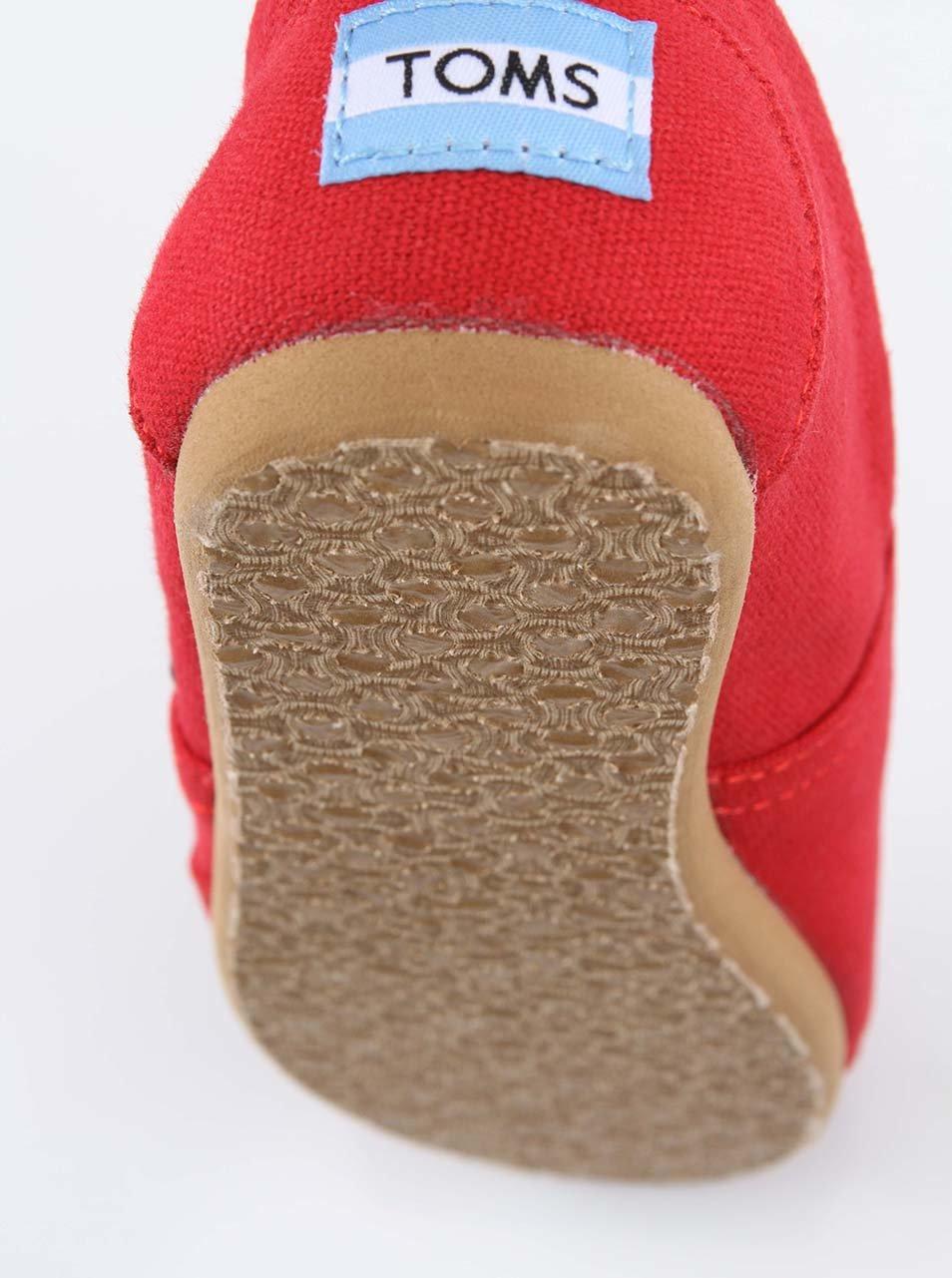 Červené pánské loafers TOMS Canvas Classic