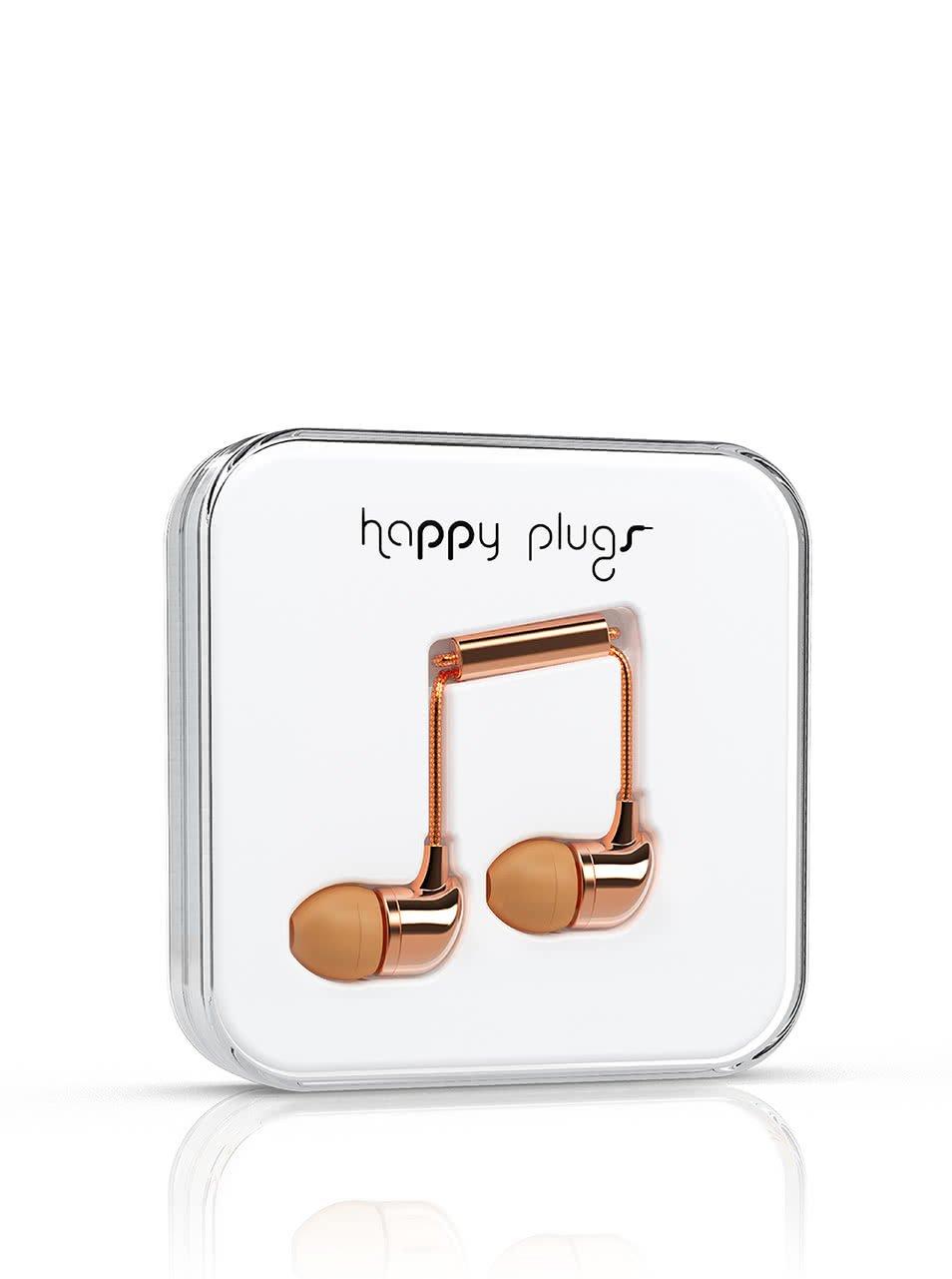 In-Ear slúchadlá v zlatoružovej farbe Happy Plugs