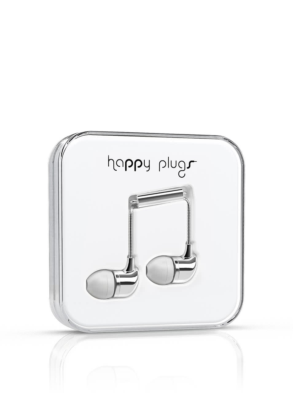 In-Ear slúchadlá v striebornej farbe Happy Plugs