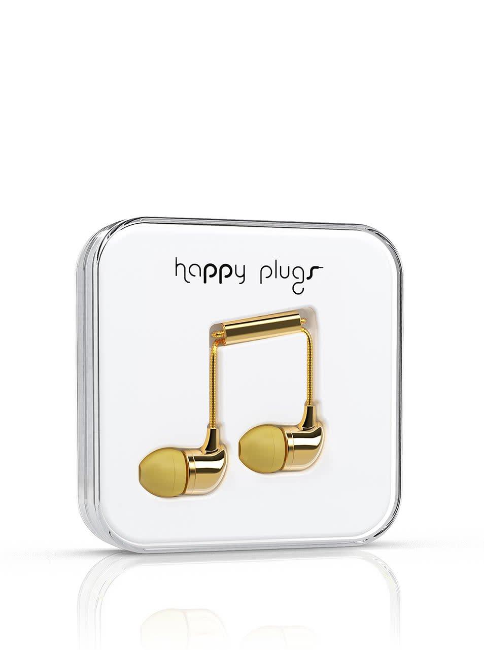 In-Ear slúchadlá v zlatej farbe Happy Plugs
