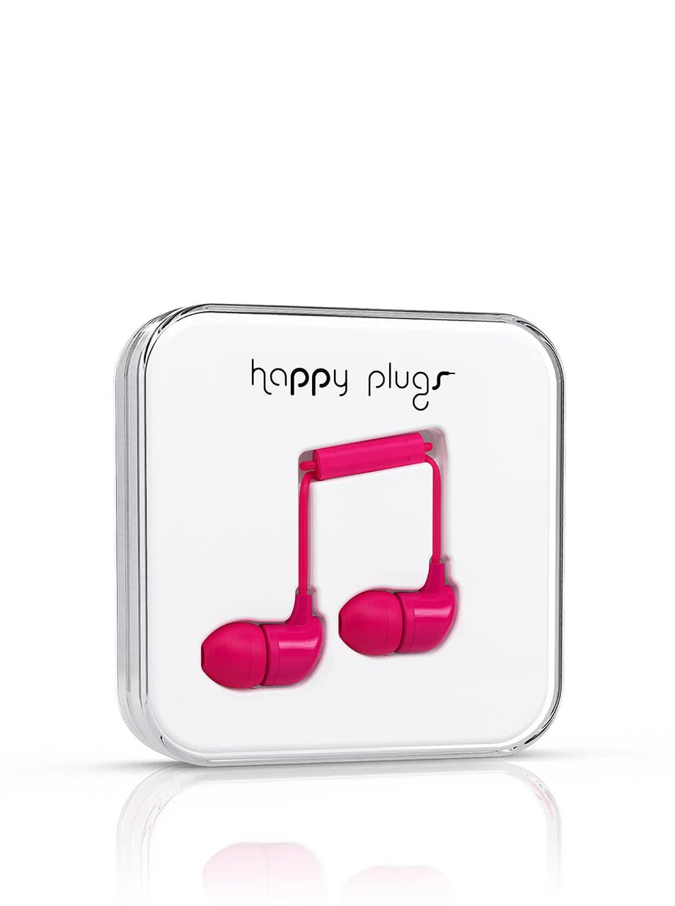 Růžová In-Ear sluchátka Happy Plugs