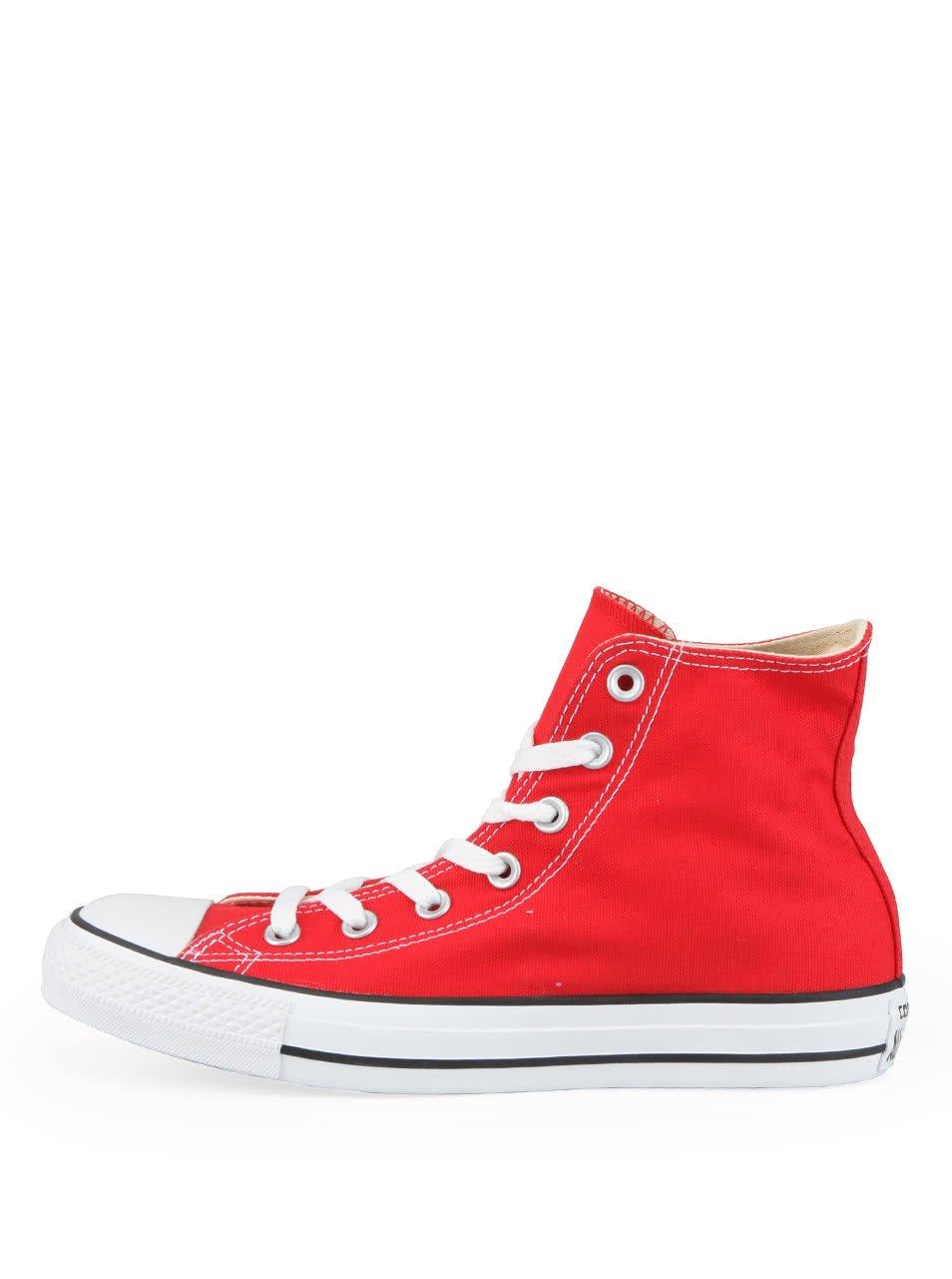 Červené unisex kotníkové tenisky Converse Chuck Taylor All Star