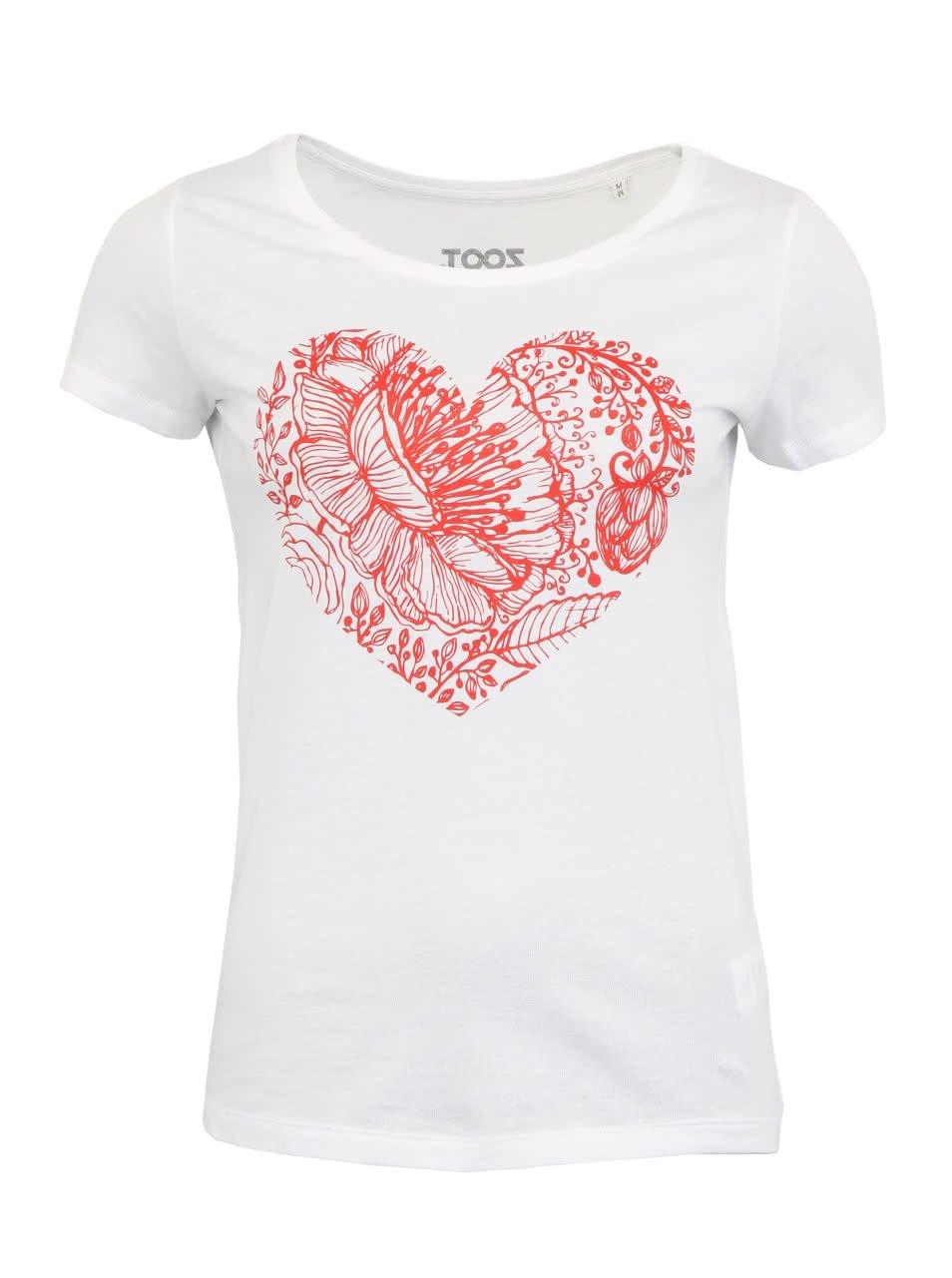 Dámské bílé tričko ZOOT Originál Heart