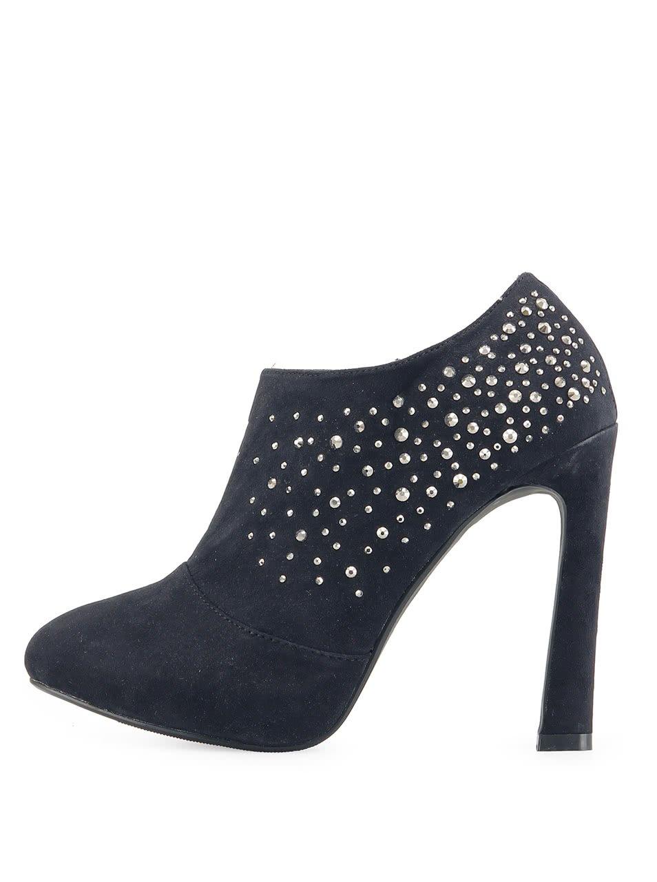 Černé sexy boty Victoria Delef s kamínky