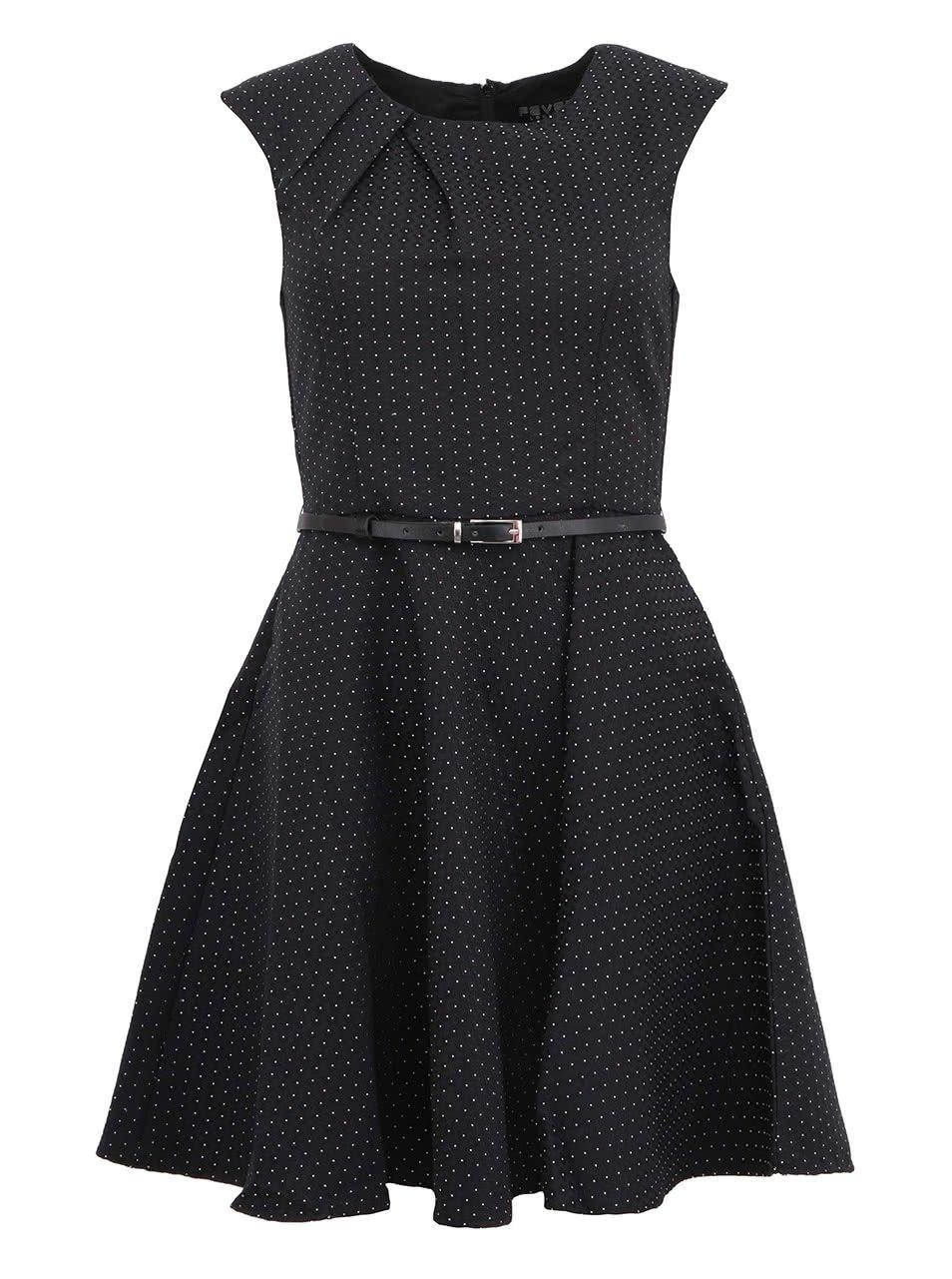 Černé šaty s puntíky Fever London Dijon