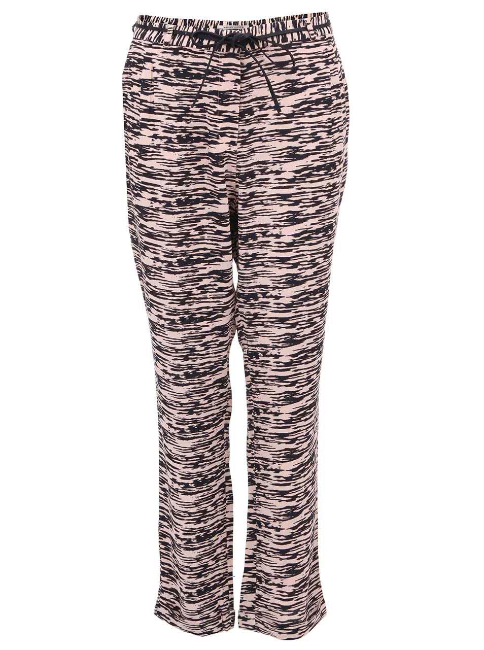 Růžovo-černé dámské žíhané kalhoty Scotch & Soda