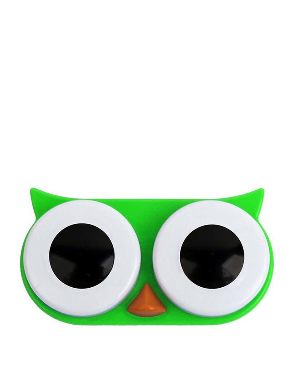 Zelené pouzdro na kontaktní čočky Kikkerland Owl