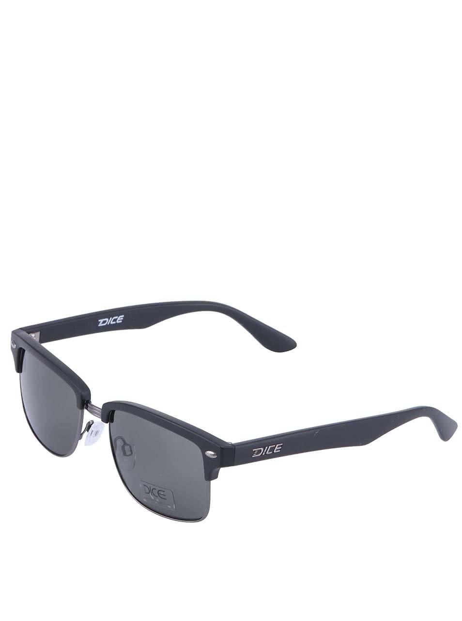 Černé sluneční brýle Dice Metal Plastic
