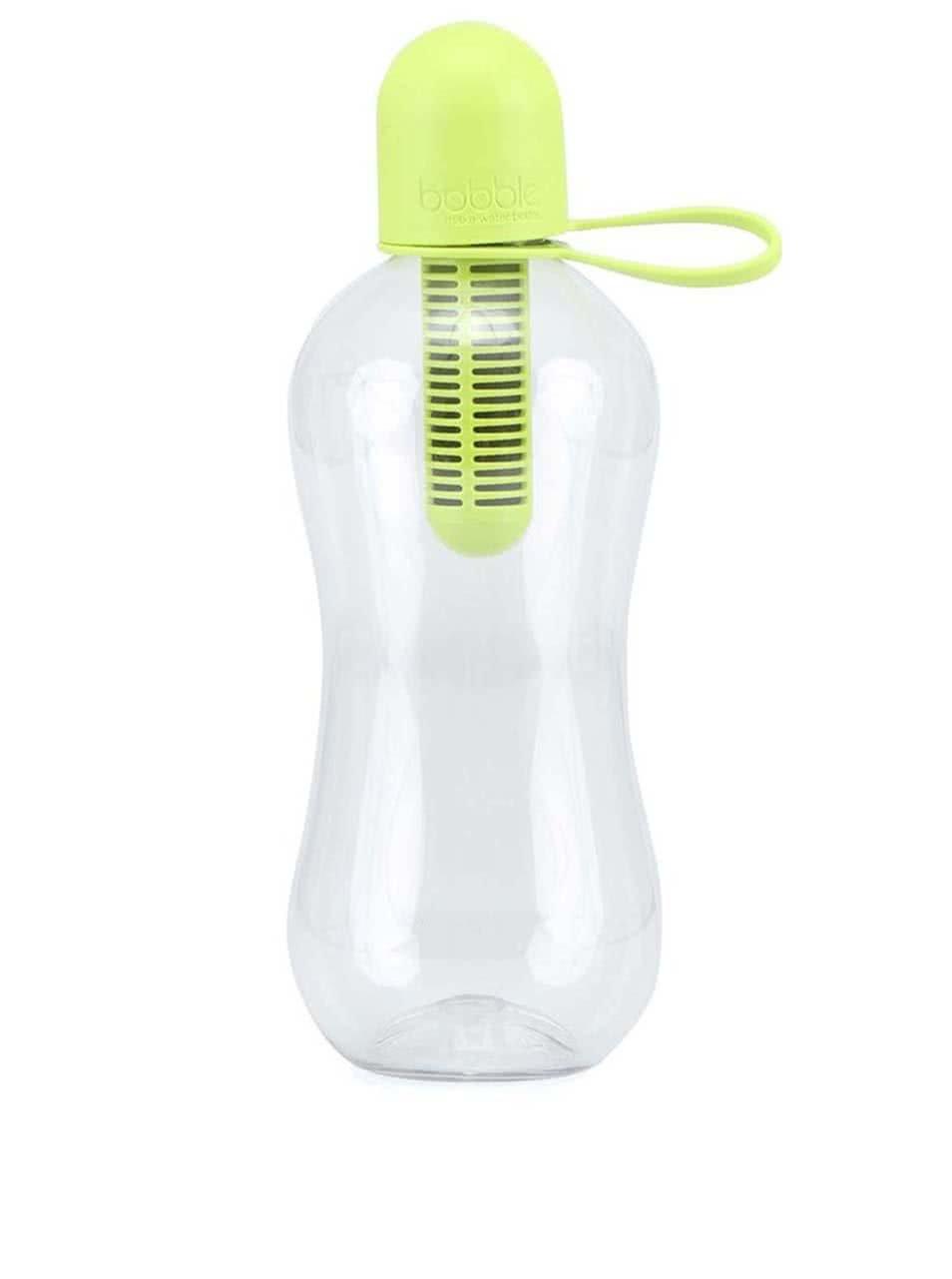 Limetkově zelená filtrační láhev se silikonovým víčkem bobble