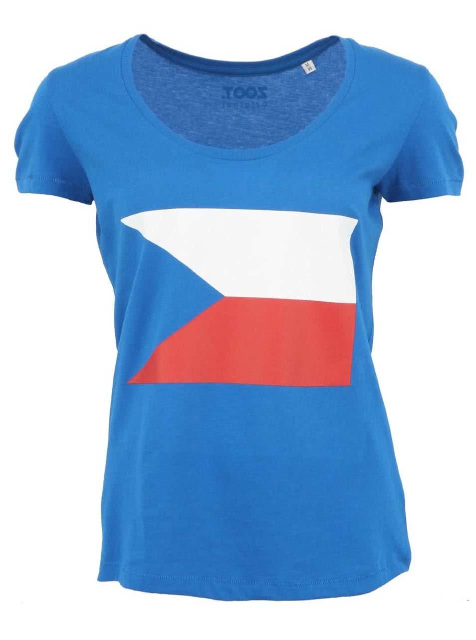 Modré dámské triko s vlajkou ZOOT Originál
