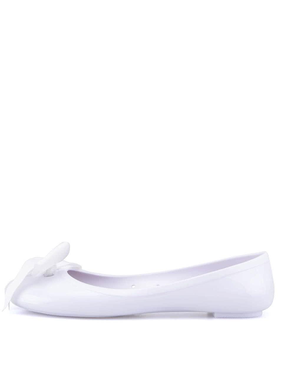 Bílé balerínky s mašlí Colours of California