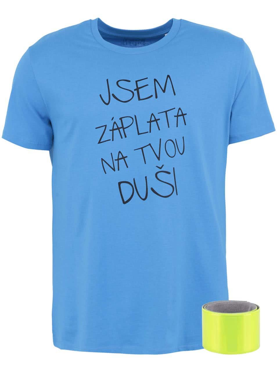 Modré pánské triko ZOOT Originál Jsem záplata