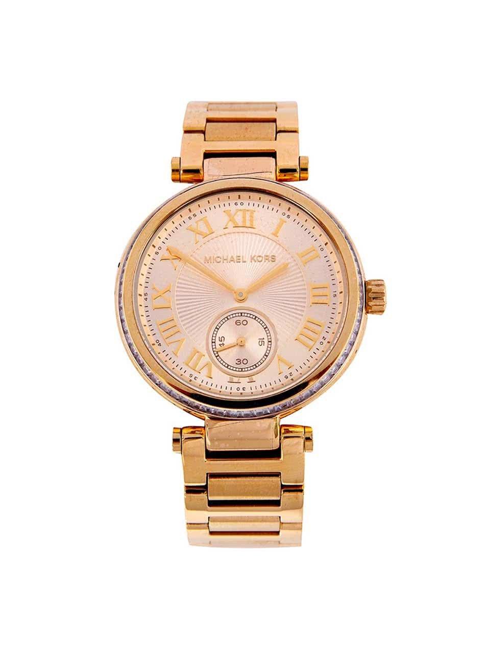 Dámské hodinky ve zlaté barvě z pozlacené oceli s nerezovým páskem Michael Kors Skylar