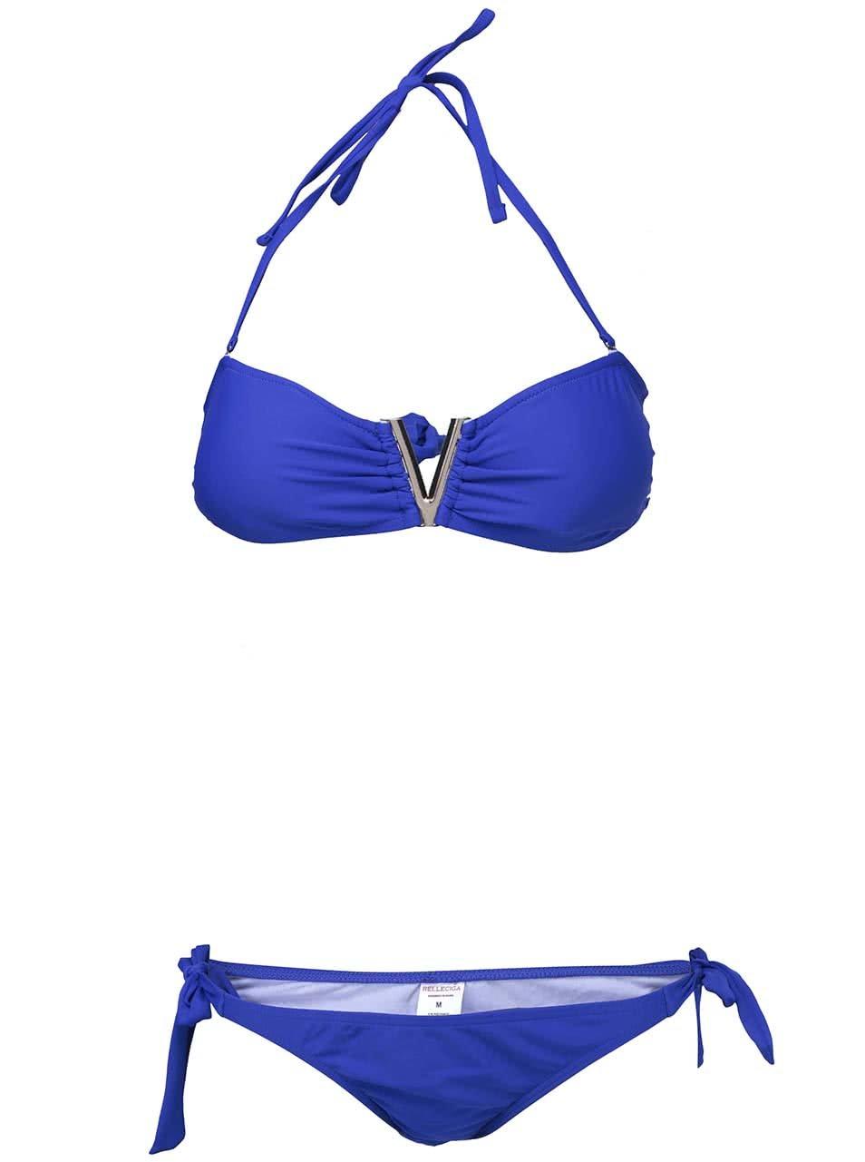 Modré plavky s kovovým detailem Relleciga Bronze