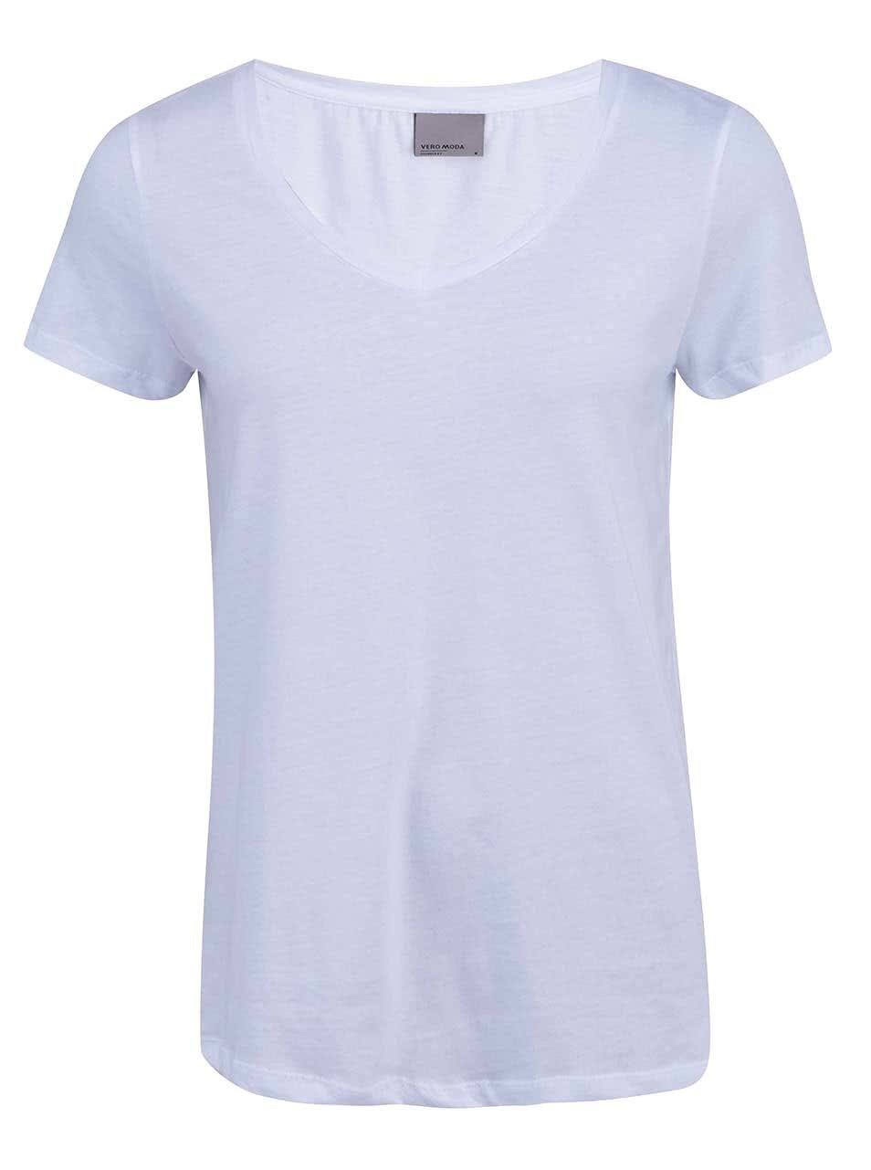 Bílé tričko Vero Moda Molly