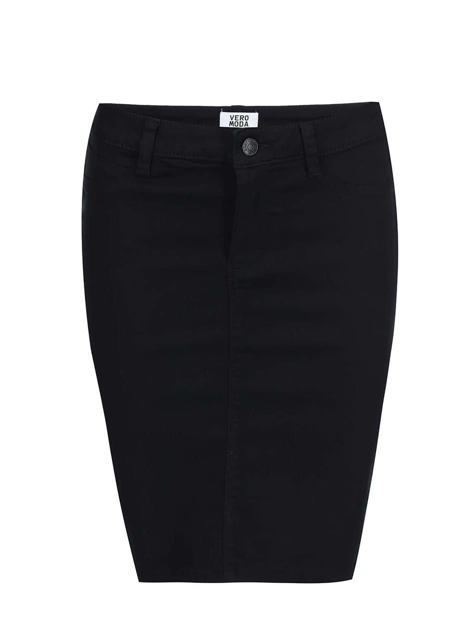 Černá přiléhavá sukně Vero Moda Flex