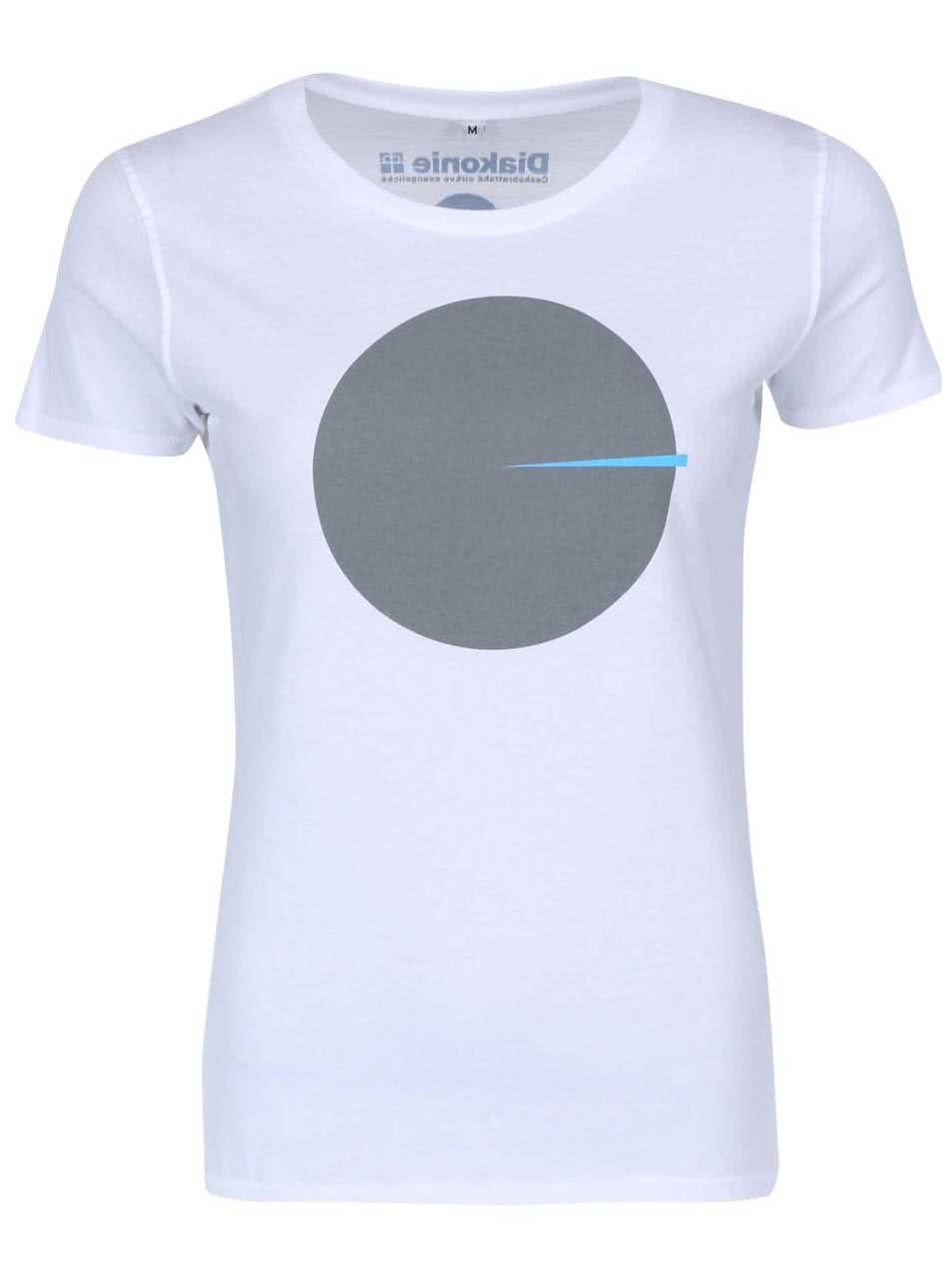 """""""Dobré"""" bílé dámské tričko Diakonie Kolo"""