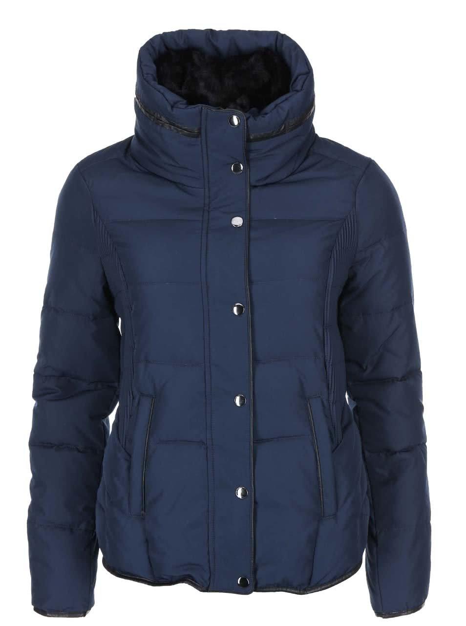 Tmavě modrá péřová bunda Vero Moda Alice