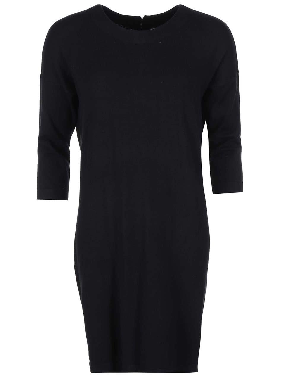 Černé volnější šaty Vero Moda Glory