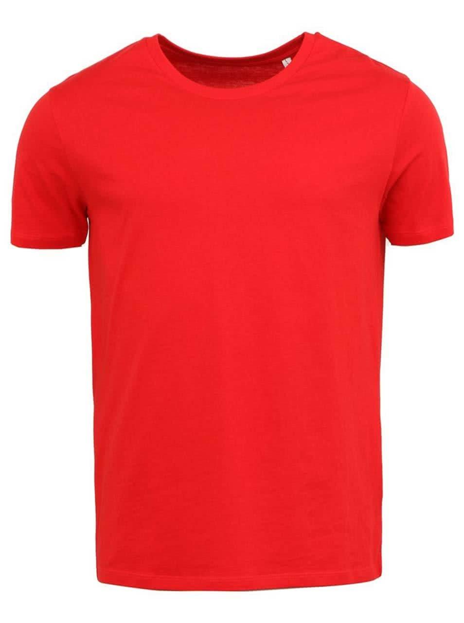 Červené pánské triko Stanley & Stella Leads