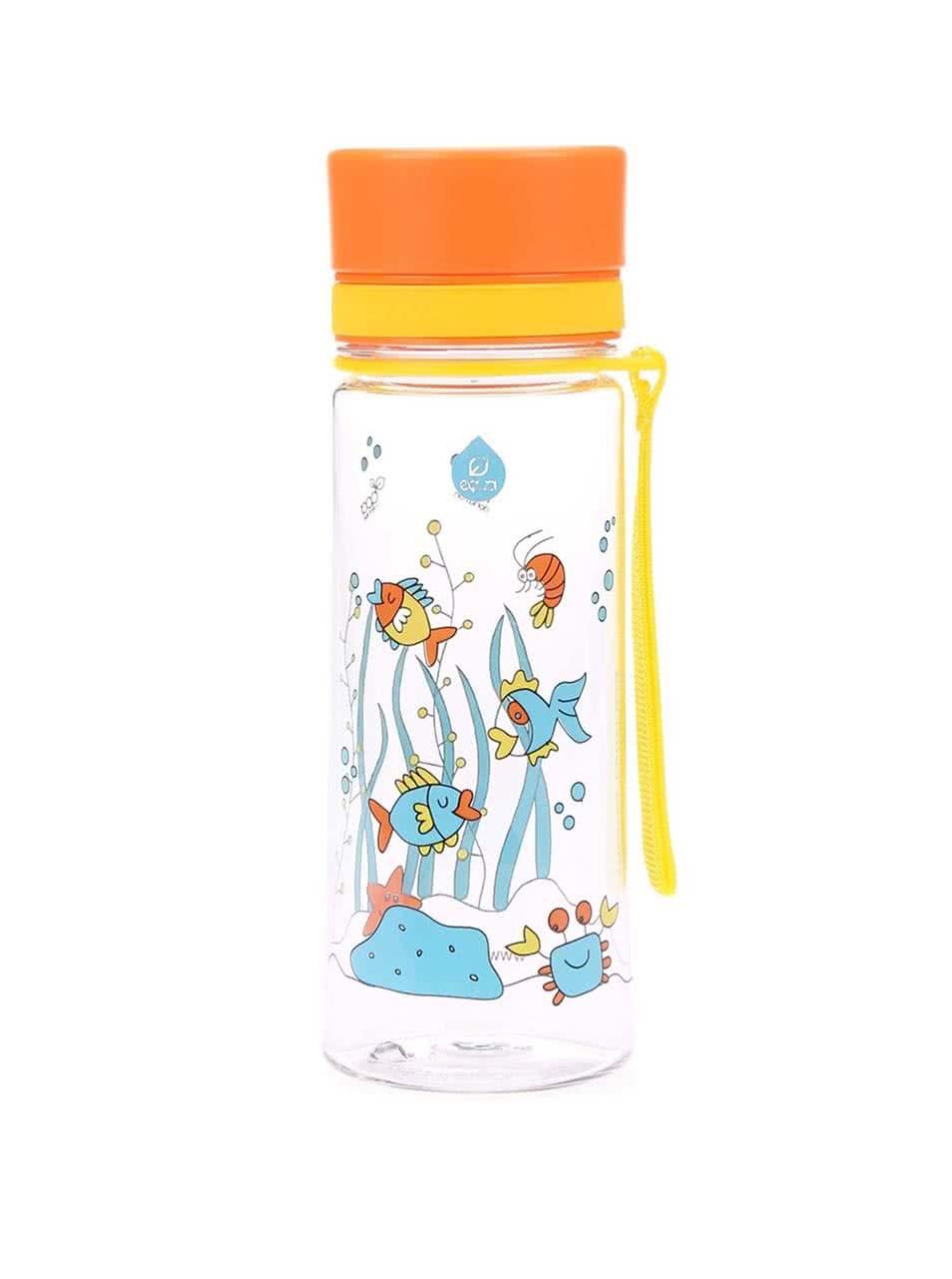 Malá plastová láhev s motivem rybiček EQUA (400 ml)