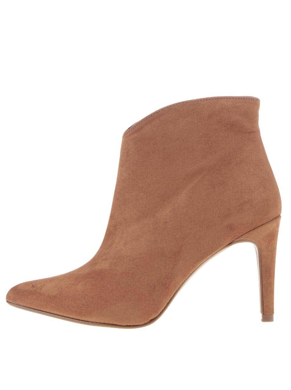 Hnědé boty na podpatku OJJU