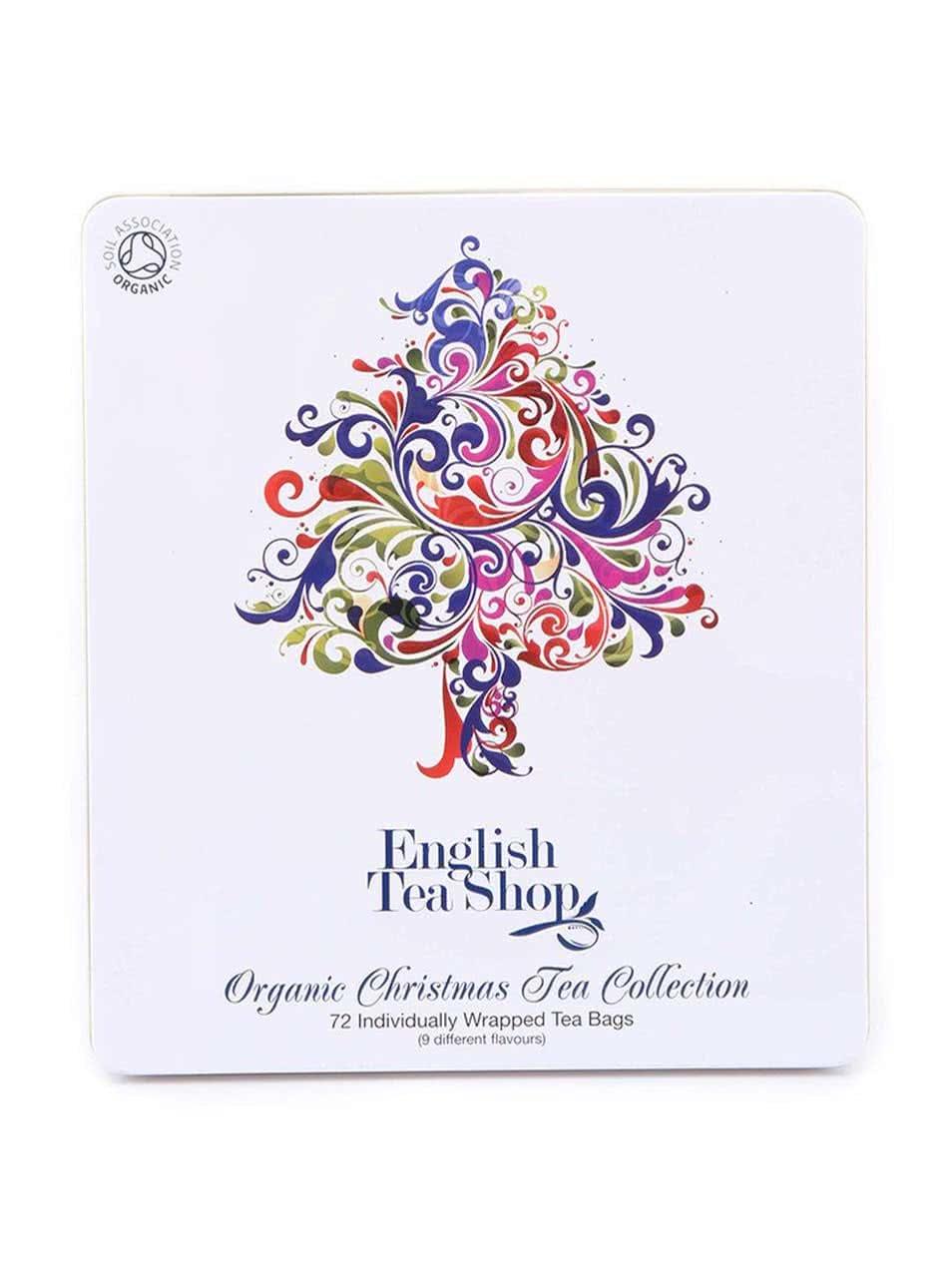 Plechová kazeta s bio čaji English Tea Shop Vánoční strom