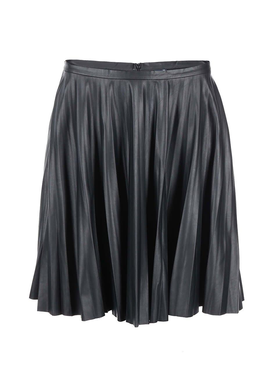 Černá skládaná sukně do pasu s.Oliver