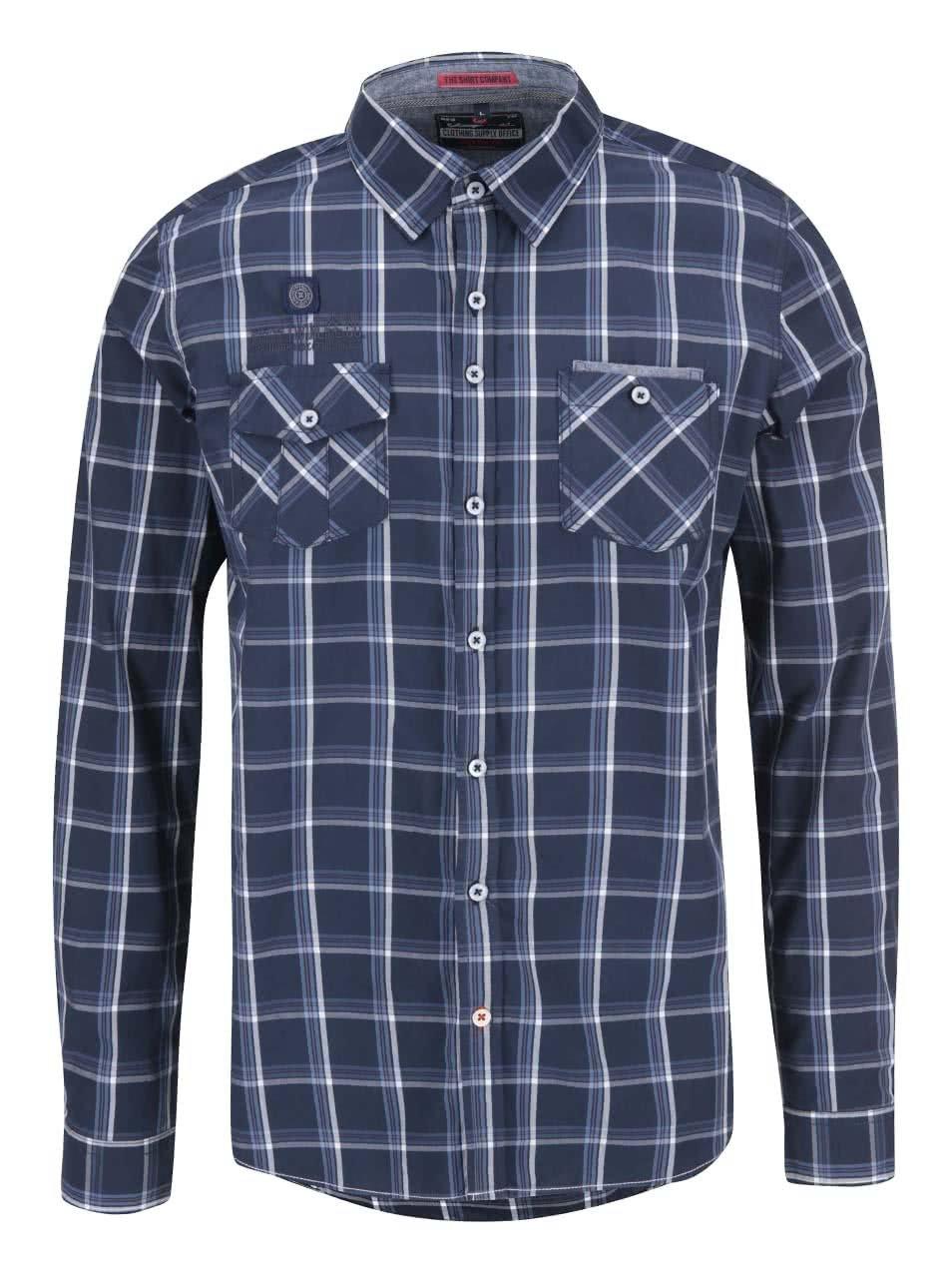 Modrá kostkovaná košile Twinlife