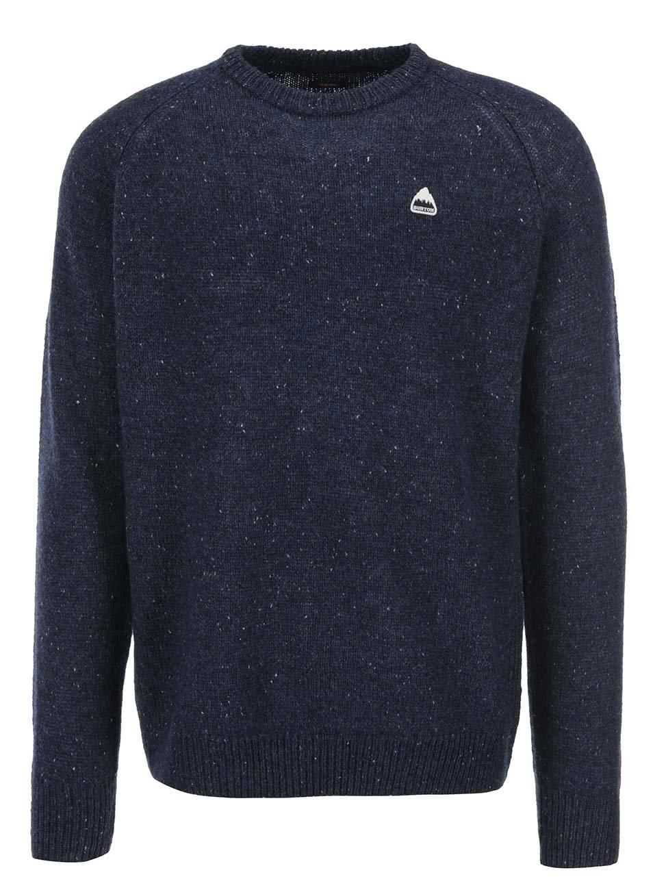 Tmavě modrý vlněný pánský svetr Burton Gus