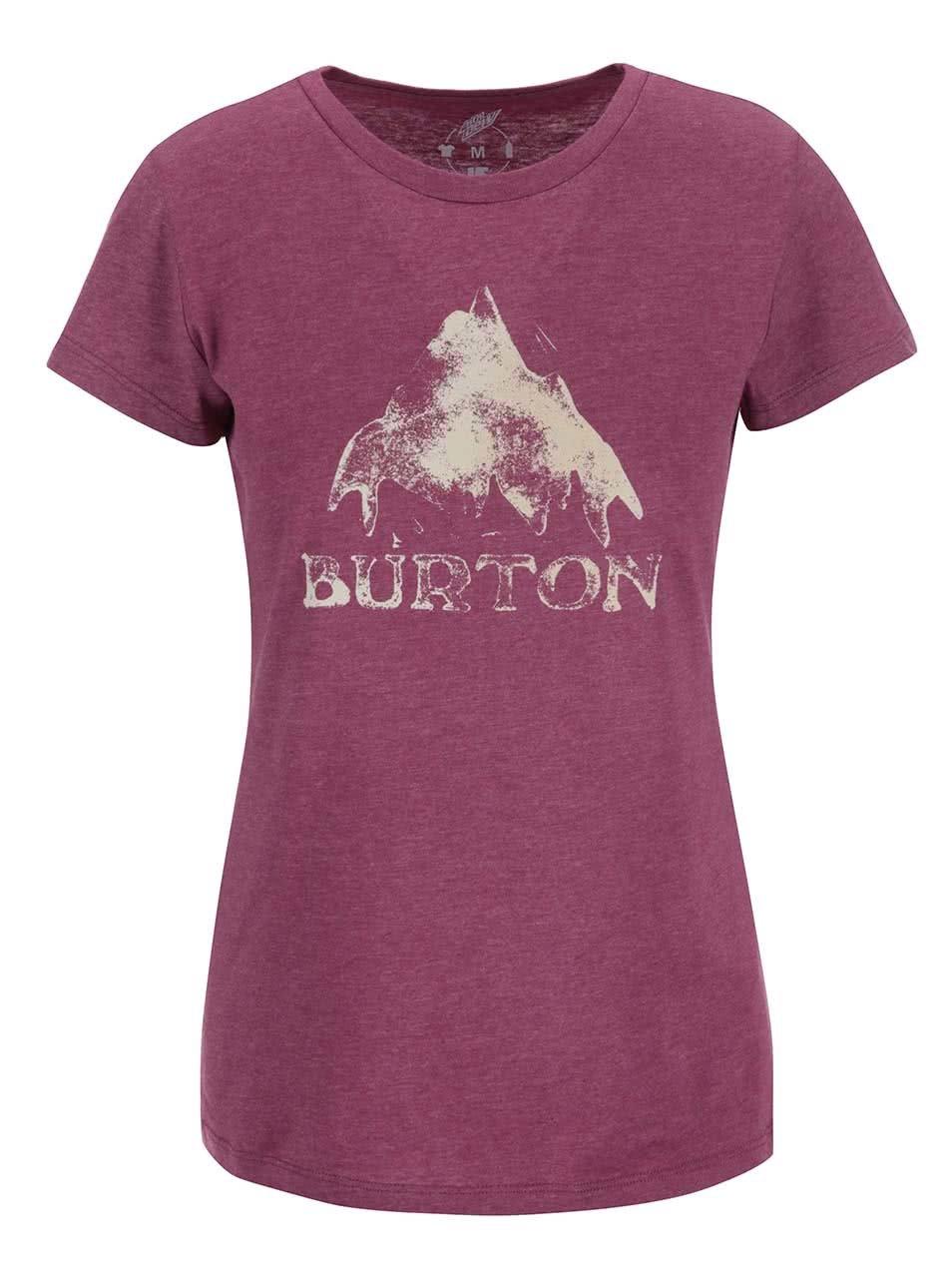 Fialové dámské tričko s potiskem Burton Stmdmtn