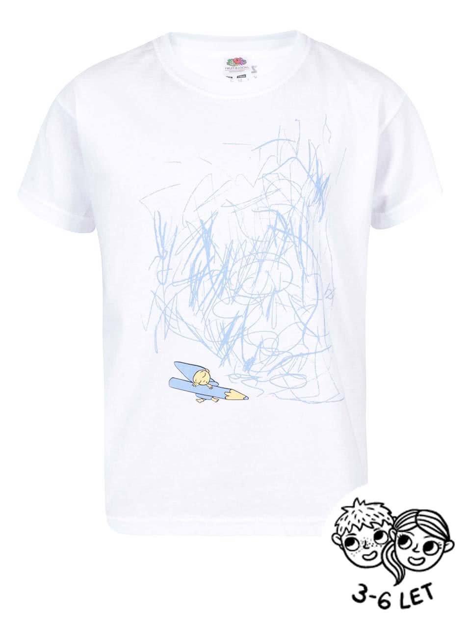 Bílé dětské triko ZOOT Kids Skřítek