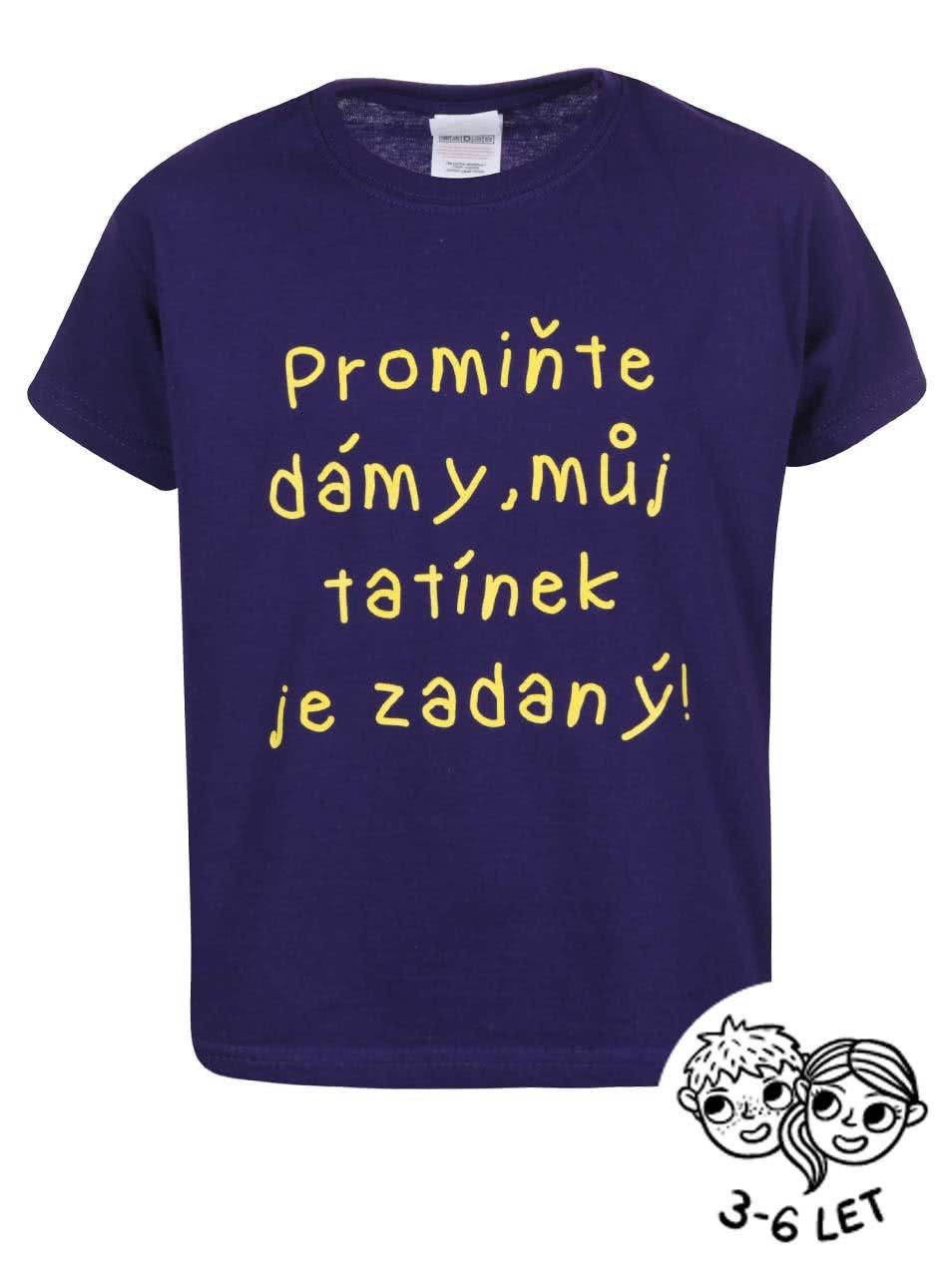 Fialové dětské tričko ZOOT Kids Promiňte
