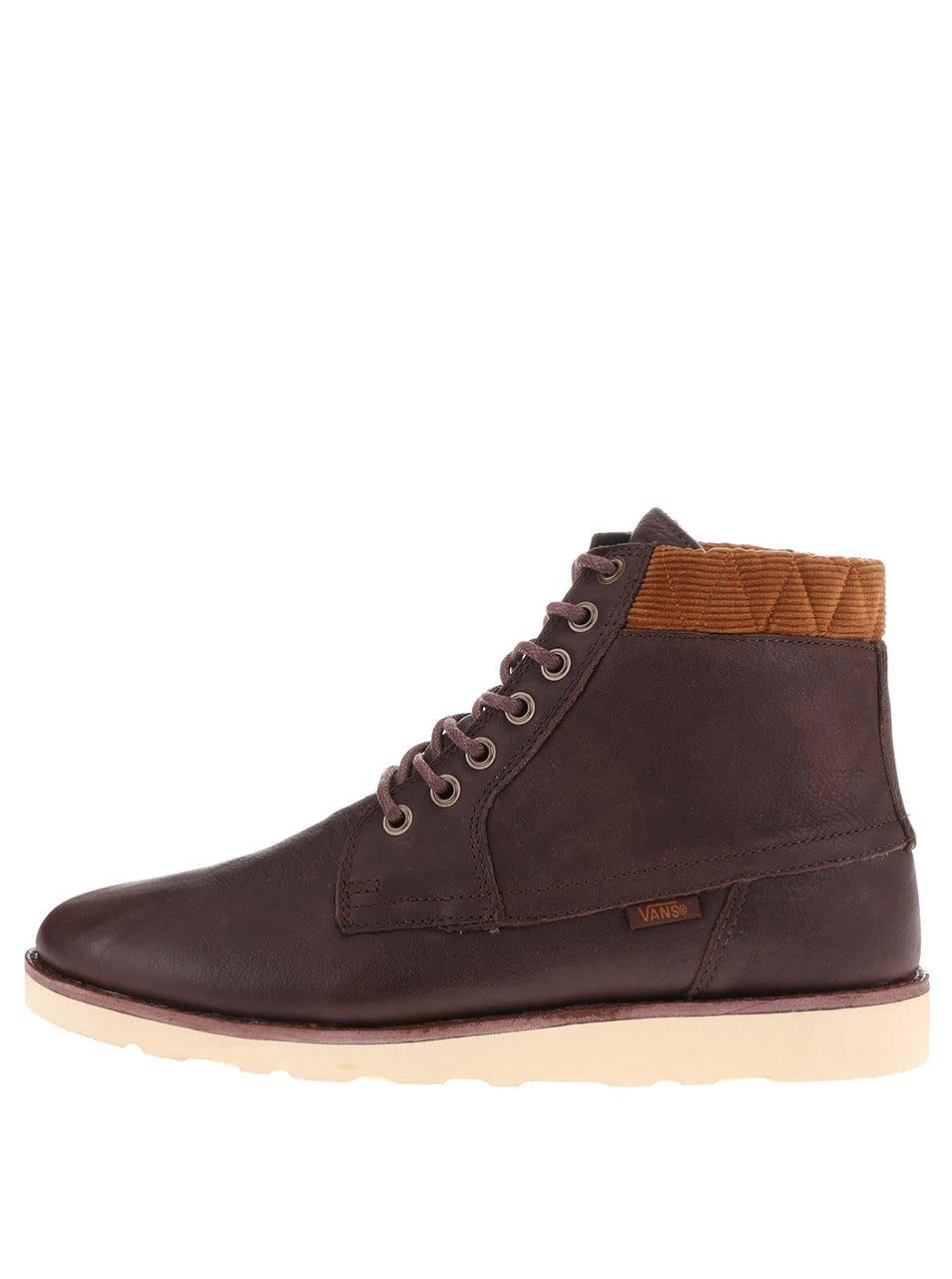 Hnědé pánské kotníkové boty Vans Breton