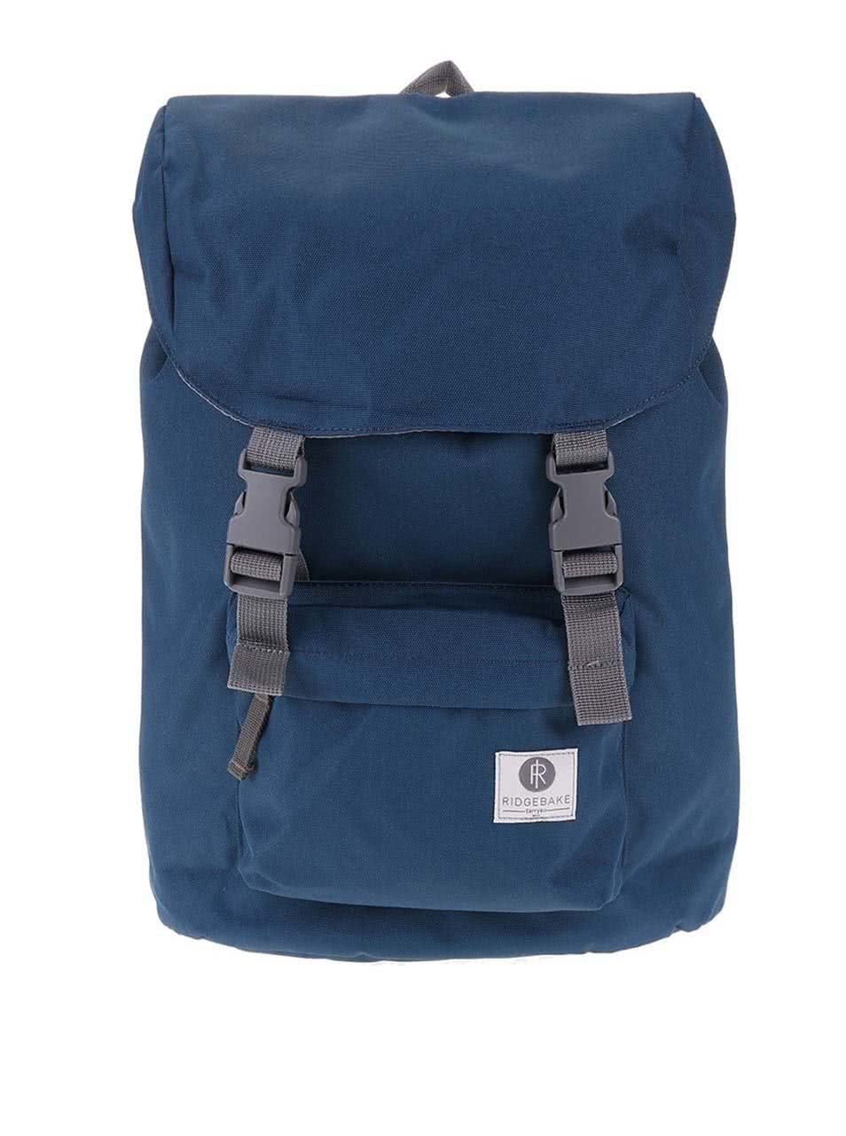Šedo-modrý středně velký batoh s přezkami Ridgebake Hook – ŽENY   Kabelky e9e89df4e2