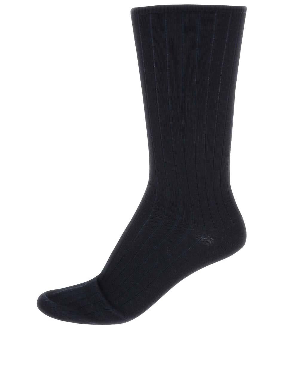 Tmavě modré vlněné ponožky Claudio