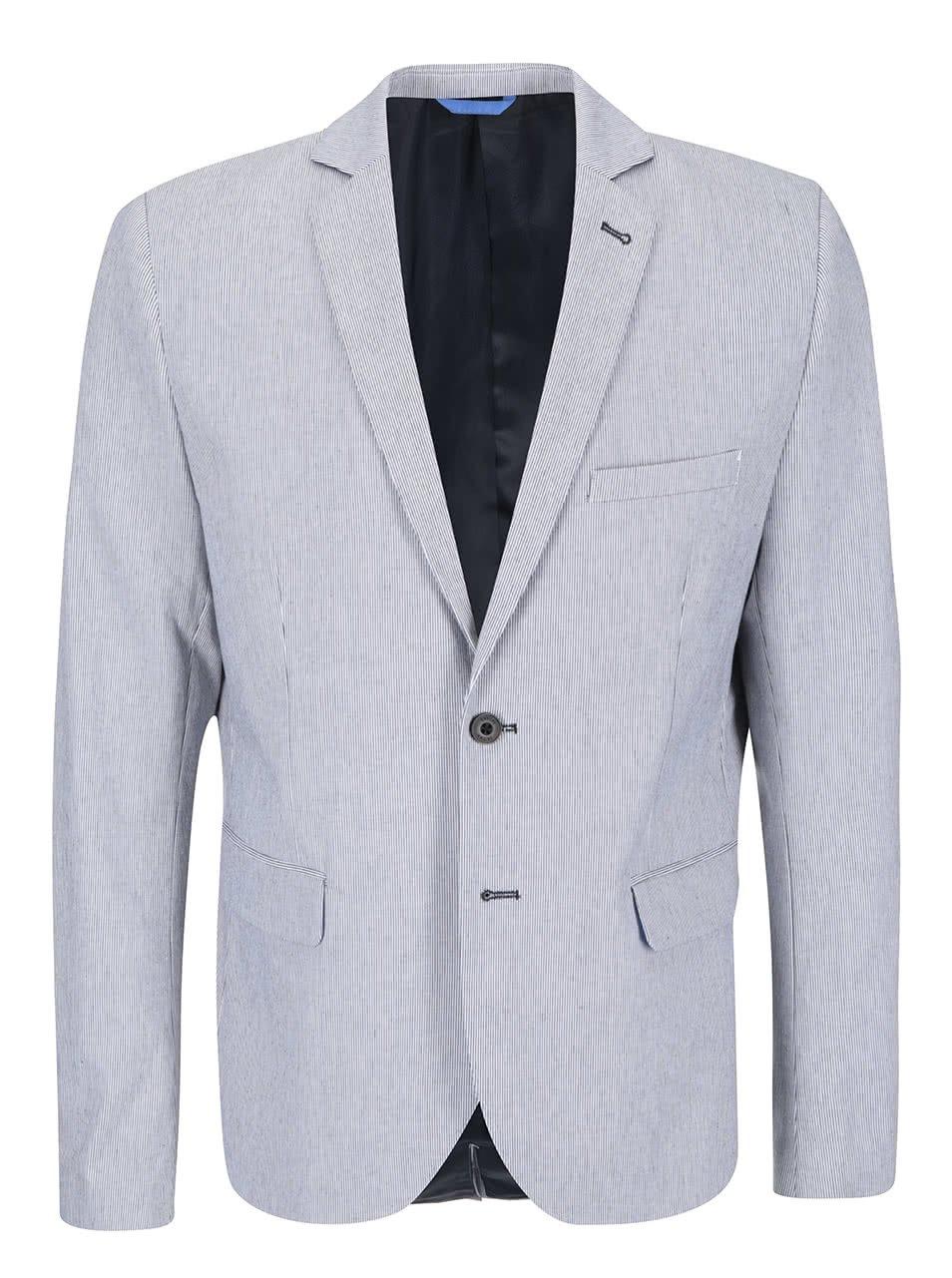 Bílo-modré pruhované sako Casual Friday by Blend