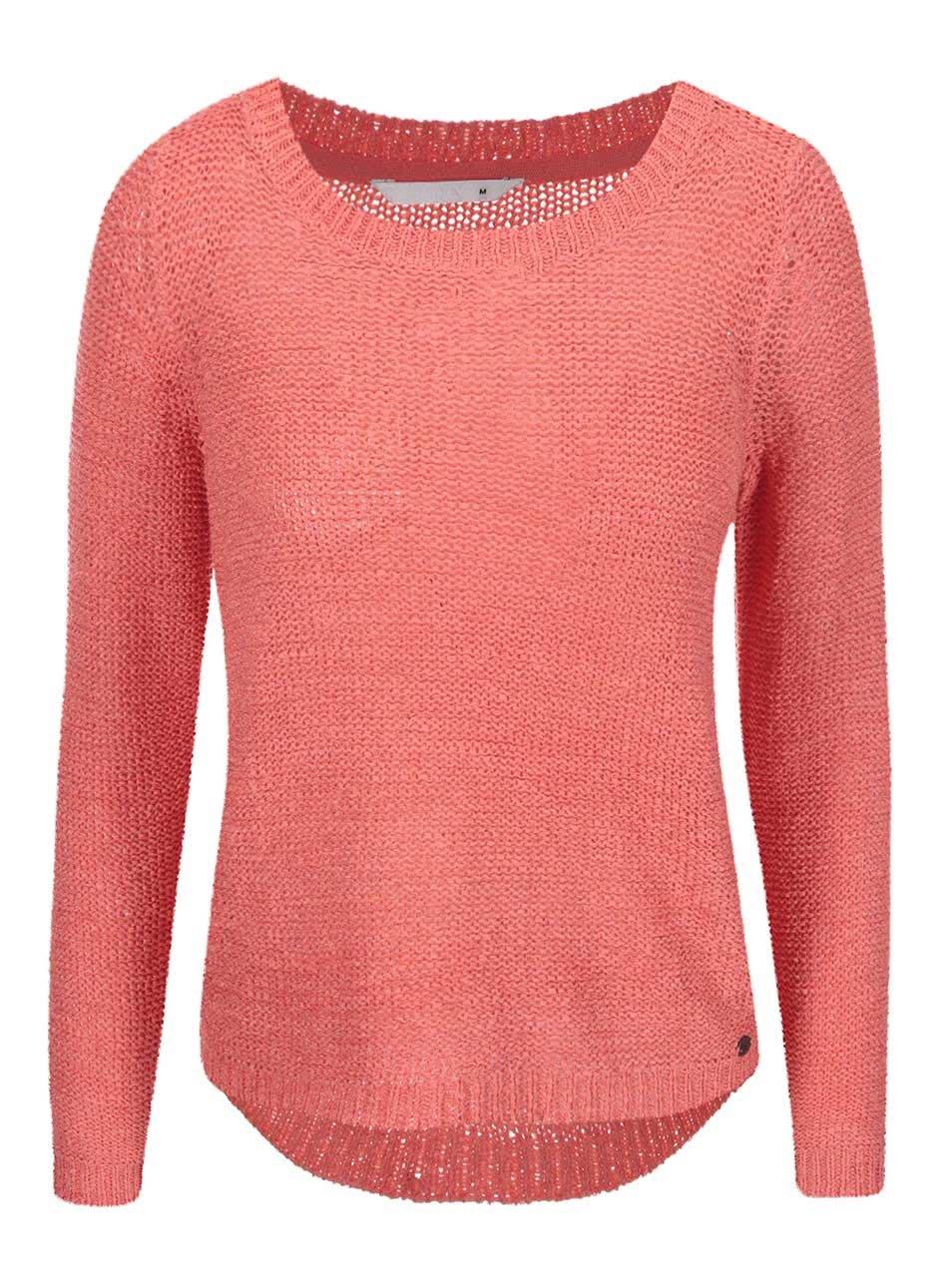 Růžový pletený svetr ONLY Geena