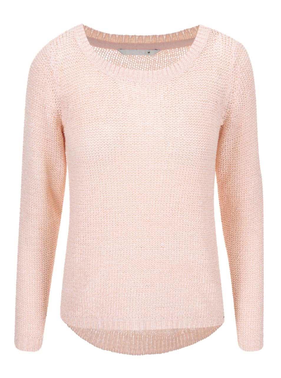 Světle růžový pletený svetr ONLY Geena