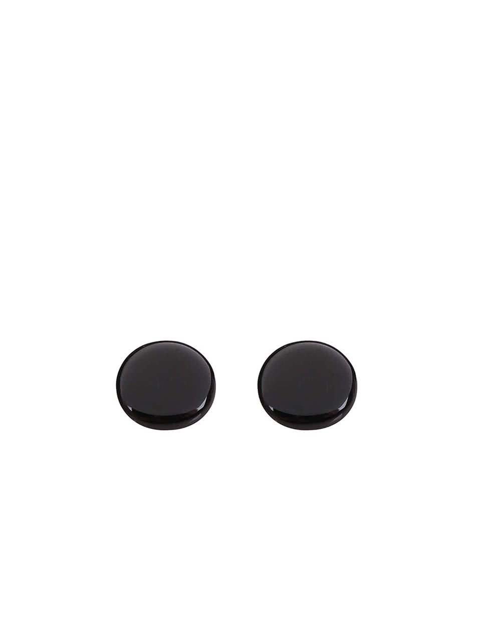 Černé náušnice Pieces Miebe