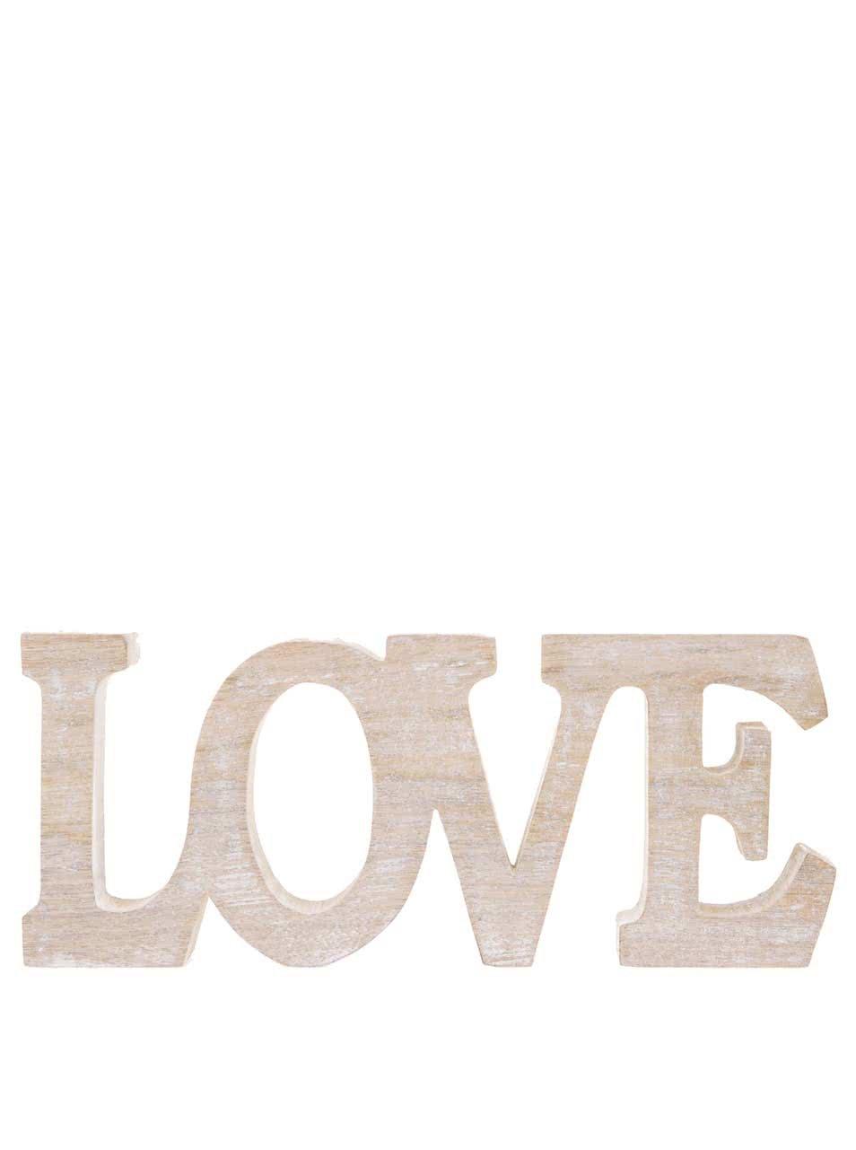 Dřevěná dekorace Sass & Belle Love