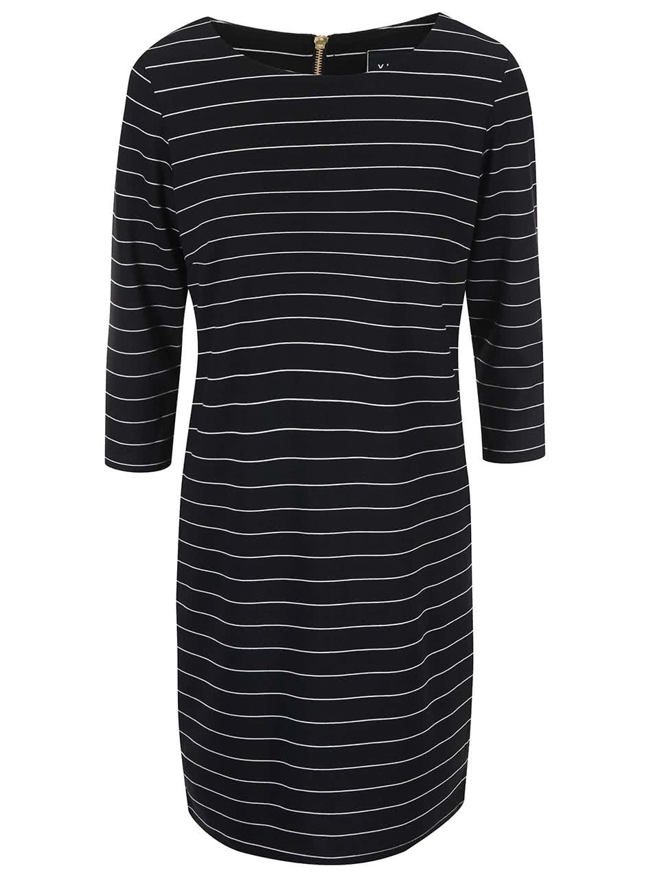 Černé pruhované šaty VILA Tinna