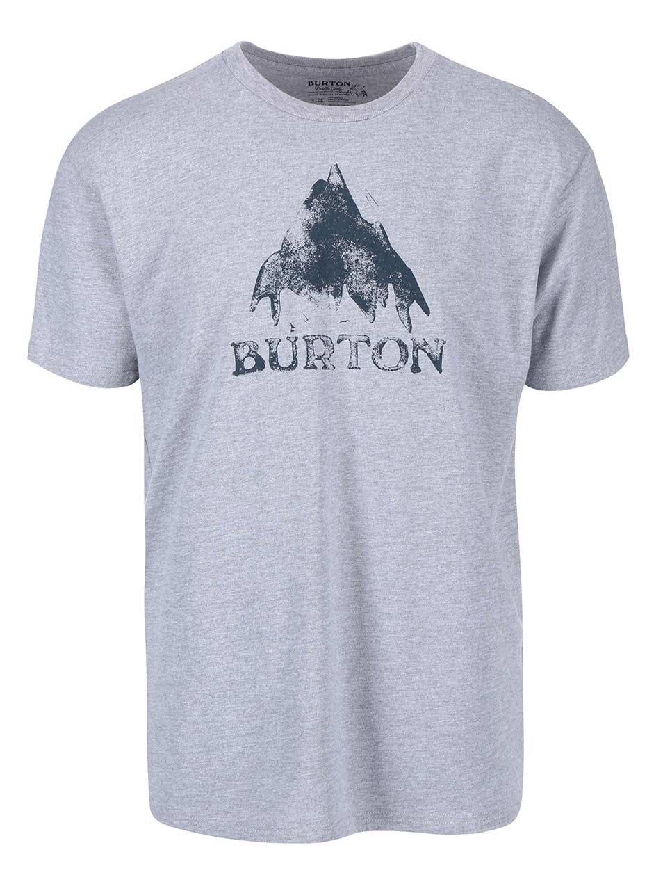 Světle šedé pánské triko Burton Stamped Mountain