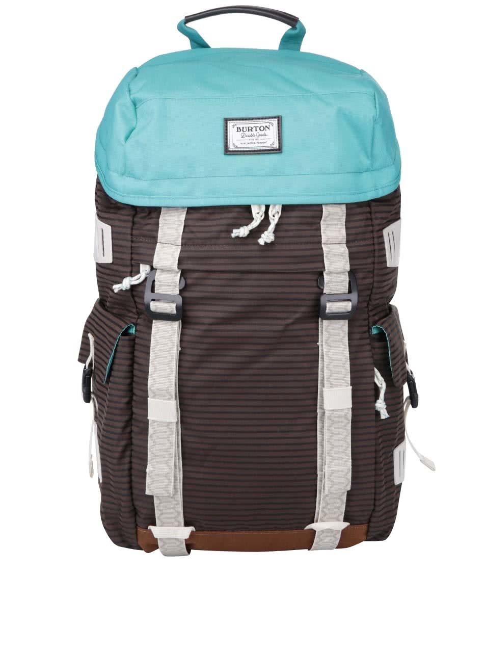 Tyrkysovo-hnědý batoh s šedými detaily Burton Annex